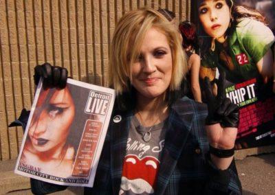 Drew Barrymore AXA / Ingray Detroit live magazine